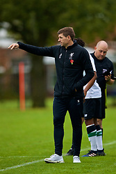 LONDON, ENGLAND - Saturday, November 4, 2017: Liverpool's Under-18 manager Steven Gerrard during the Under-18 Premier League Cup Group D match between West Ham United FC and Liverpool FC at Little Heath. (Pic by David Rawcliffe/Propaganda)
