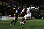 James Dayton and Kyle Howkins during the Vanarama National League match between Kidderminster Harriers and Cheltenham Town at Aggborough, Kidderminster, United Kingdom on 26 December 2015. Photo by Antony Thompson.