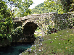 Old Spanish Bridge connecting St. Ann and St. Mary parishes over the White River, Jamaica