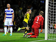 Burton's Jamie Ward (12) celebrates after scoring to make the score 1-0 to Burton Albion during the EFL Sky Bet Championship match between Burton Albion and Queens Park Rangers at the Pirelli Stadium, Burton upon Trent, England on 27 September 2016. Photo by Richard Holmes.