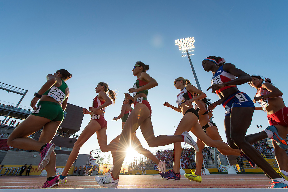 Women's 10,000 meter race during athletics competition at the 2015 PanAm Games in Toronto.