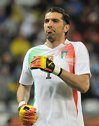Football - soccer: FIFA World Cup South Africa 2010, Italy (ITA) - Paraguay (PRY), IL PORTIERE DELL' ITALIA GIANLUIGI BUFFON