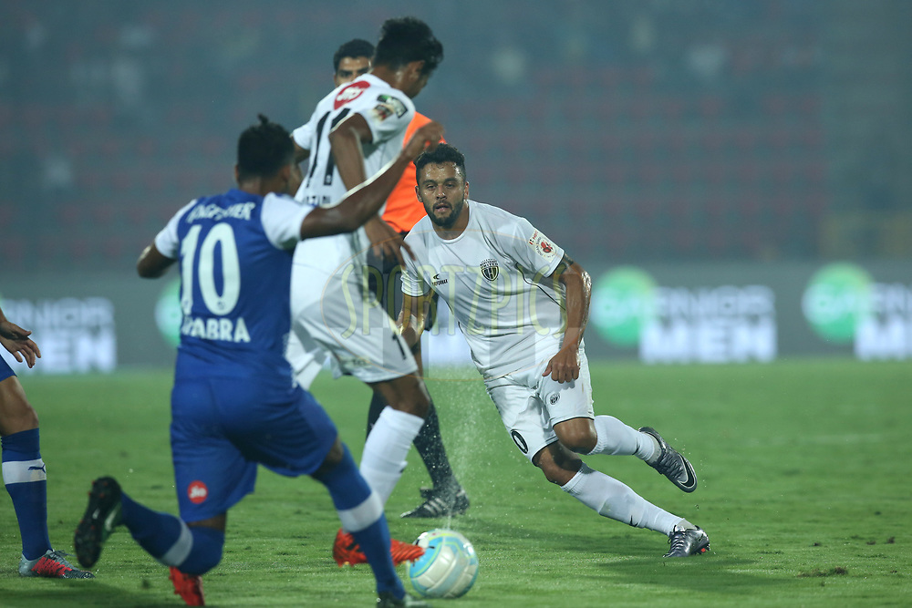 Marcio de Souza Greg&Ucirc;rio J˙nior of Northeast United FC in action during match 19 of the Hero Indian Super League between NorthEast United FC and Bengaluru FC held at the Indira Gandhi Athletic Stadium, Guwahati India on the 8th December 2017<br /> <br /> Photo by: Deepak Malik  / ISL / SPORTZPICS
