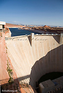 Glen Canyon Dam on the Colorado River in Page Arizona