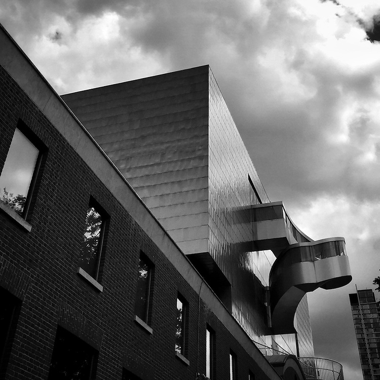 Art Gallery of Ontario, back wall designed by Frank Gehry.<br />