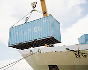 Containers being loaded onto KM Nggapulu at the Port of Makassar. Apart from passengers, Pelni also plays an important role to transport goods to various place around Indonesian archipelago. It benefit from its vessel faster speed compared to most cargo ships.<br /> <br /> Indonesia&rsquo;s Pelni is the last great true passenger liners company in the world. It is the only company of its size that still serves scheduled vessels transporting people across various destination. In a far-flung archipelago nation, where many of the islands have no airport and most of its area made up of water, it is one important mean of transportation&mdash;and simply one of the best way to travel. One of Pelni's furthest regular route starts from Surabaya in East Java and ends in Papuan city of Merauke, basically the eastern end of Indonesia. The round trip voyage takes one month, passing more than two dozen ports and covering a distance of more than 8,000 kilometers.