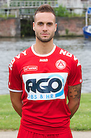 Kortrijk's Maxime Chanot poses for the photographer during the 2014-2015 season photo shoot of Belgian first league soccer team KV Kortrijk, Tuesday 08 July 2014 in Kortrijk.