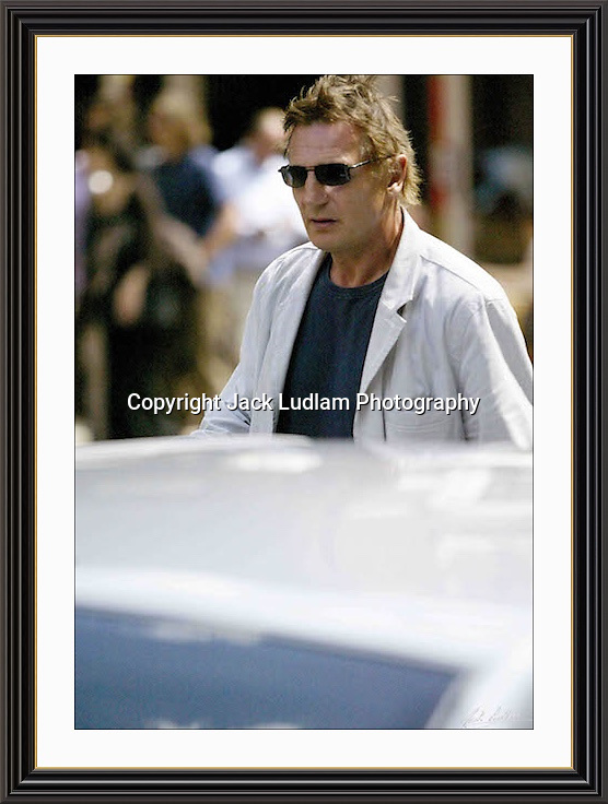 Liam Neeson Charlotte st London<br /> A3 Museum-quality Archival signed Framed Print (Limited Edition of 25)