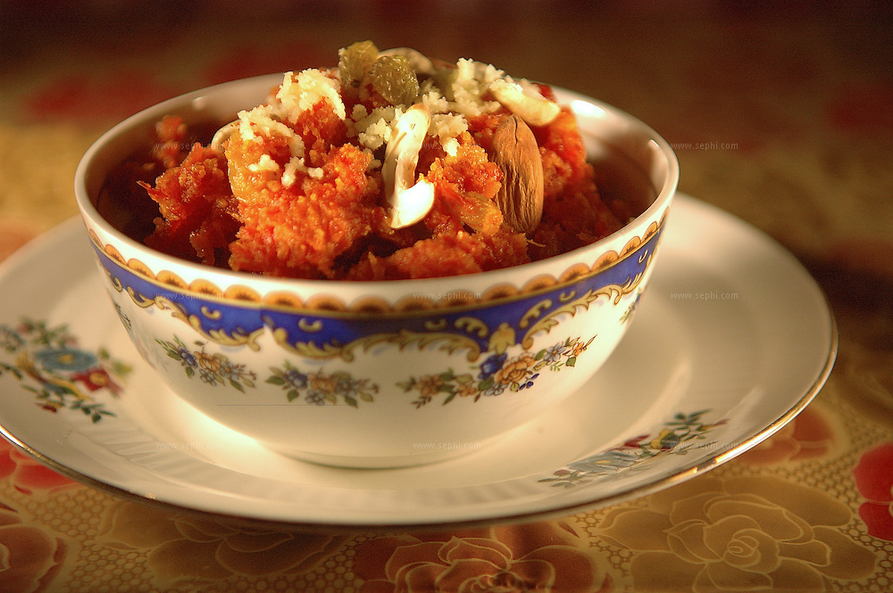 Gajar ka halwa - A carrot and milk sweet ( Recipe available upon request )