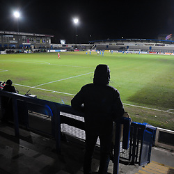 TELFORD COPYRIGHT MIKE SHERIDAN Supporters at the New Bucks Head during the FA Trophy Round 1 fixture between AFC Telford United and Leamington at the New Bucks head Stadium on Tuesday, December 17, 2019.<br /> <br /> Picture credit: Mike Sheridan/Ultrapress<br /> <br /> MS201920-034