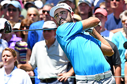 June 24, 2017 - Cromwell, Connecticut, U.S - Troy Merritt tees off the first tee during the third round of the Travelers Championship at TPC River Highlands in Cromwell, Connecticut. (Credit Image: © Brian Ciancio via ZUMA Wire)
