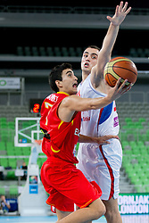 Jaime Fernandez of Spain during basketball match between National teams of Serbia and Spain in for third place match of U20 Men European Championship Slovenia 2012, on July 22, 2012 in SRC Stozice, Ljubljana, Slovenia. Spain defeated Serbia 67:66. (Photo by Matic Klansek Velej / Sportida.com)