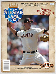 Matt Cain, All-Star Game Program, 2012