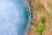 Motion blur, abstract of ice and grass, Kirkstone Pass, Lake district,