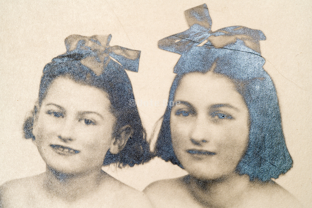 studio portrait with two girls