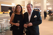 SUSAN NEILSON; ANDREW NEIL, The Neo Romantic Art Gala in aid of the NSPCC. Masterpiece. Chelsea. London.  30 June 2015