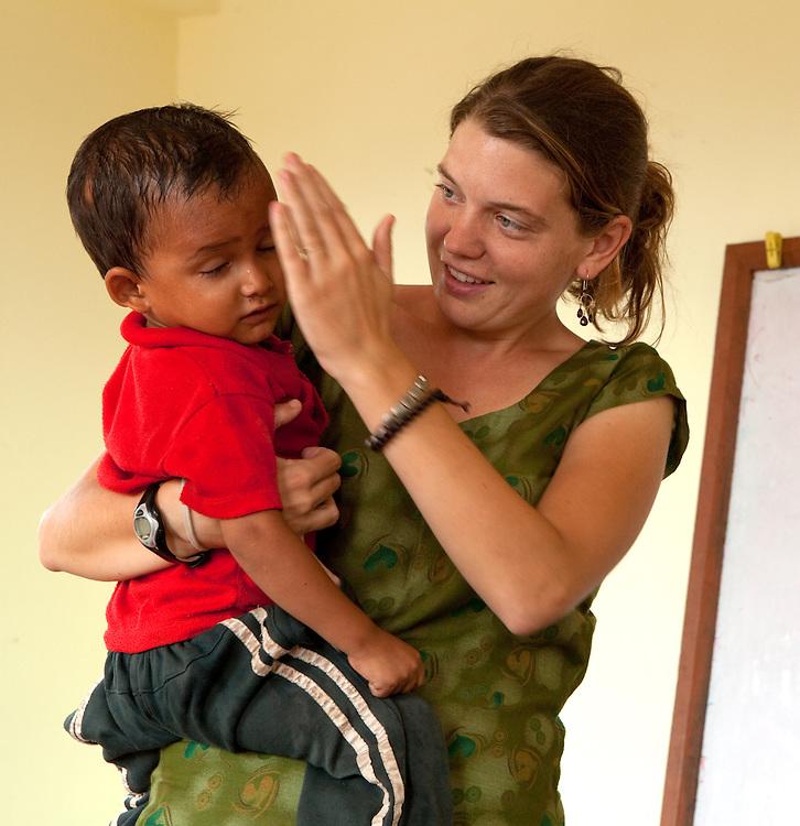 Maggie Doyne and her children, Kopila Valley Children's Home, Surkhet, Nepal