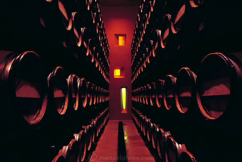 Sparkling wine cellar of Sterling winery, Napa Valley, California.