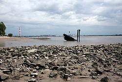 GERMANY HAMBURG 18MAY14 - Shipwreck on the beach of the Elbe river in Hamburg Blankenese.<br /> <br /> <br /> <br /> jre/Photo by Jiri Rezac<br /> <br /> <br /> <br /> &copy; Jiri Rezac 2014