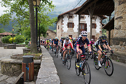 Doris Schweizer (SUI) of Veloconcept Cycling Team leads the peloton into Axpe during Stage 1 of the Emakumeen Bira - a 50 km road race, starting and finishing in Iurreta on May 16, 2017, in Basque Country, Spain.