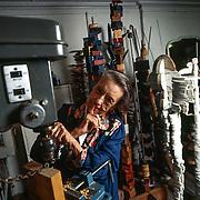 New York - Louise Bourgeois nel suo studio a New York