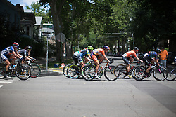 Nikki Harris (GBR) of Boels-Dolmans Cycling Team rides near the front during the fourth, 70 km road race stage of the Amgen Tour of California - a stage race in California, United States on May 22, 2016 in Sacramento, CA.