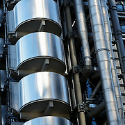 Lloyds building exterior stainless steel, London, England (September 2007)