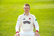 County Championship kit portrait of Michael Leask during the Somerset County Cricket Club PhotoCall 2017 at the Cooper Associates County Ground, Taunton, United Kingdom on 5 April 2017. Photo by Graham Hunt.