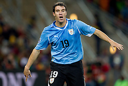 Andres Scotti of Uruguay during the  2010 FIFA World Cup South Africa Quarter Finals football match between Uruguay and Ghana on July 02, 2010 at Soccer City Stadium in Sowetto, suburb of Johannesburg. Uruguay defeated Ghana after penalty shots. (Photo by Vid Ponikvar / Sportida)