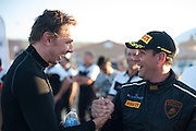 October 20-21, 2013. Lamborghini Super Trofeo - Autoclub Speedway, Fontana California. Kevin Conway, Change Racing and Dax Shepard
