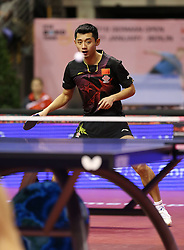 31.01.2016, Max Schmeling Halle, Berlin, GER, German Open 2016, im Bild Jike Zhang (CHN) bei der Ballannahme // during the table Tennis 2016 German Open at the Max Schmeling Halle in Berlin, Germany on 2016/01/31. EXPA Pictures © 2016, PhotoCredit: EXPA/ Eibner-Pressefoto/ Wuest<br /> <br /> *****ATTENTION - OUT of GER*****