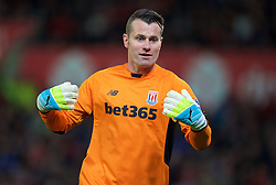 STOKE-ON-TRENT, ENGLAND - Monday, April 18, 2016: Stoke City's goalkeeper Shay Given in action against Tottenham Hotspur during the FA Premier League match at the Britannia Stadium. (Pic by David Rawcliffe/Propaganda)