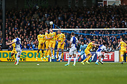 Bristol Rovers Billy Bodin(23) takes a free kick scores a goal 3-3 during the EFL Sky Bet League 1 match between Bristol Rovers and Millwall at the Memorial Stadium, Bristol, England on 30 April 2017. Photo by Shane Healey.
