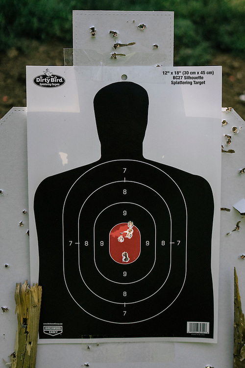 Targets show the accuracy of the Tracking Point TP750 rifle.