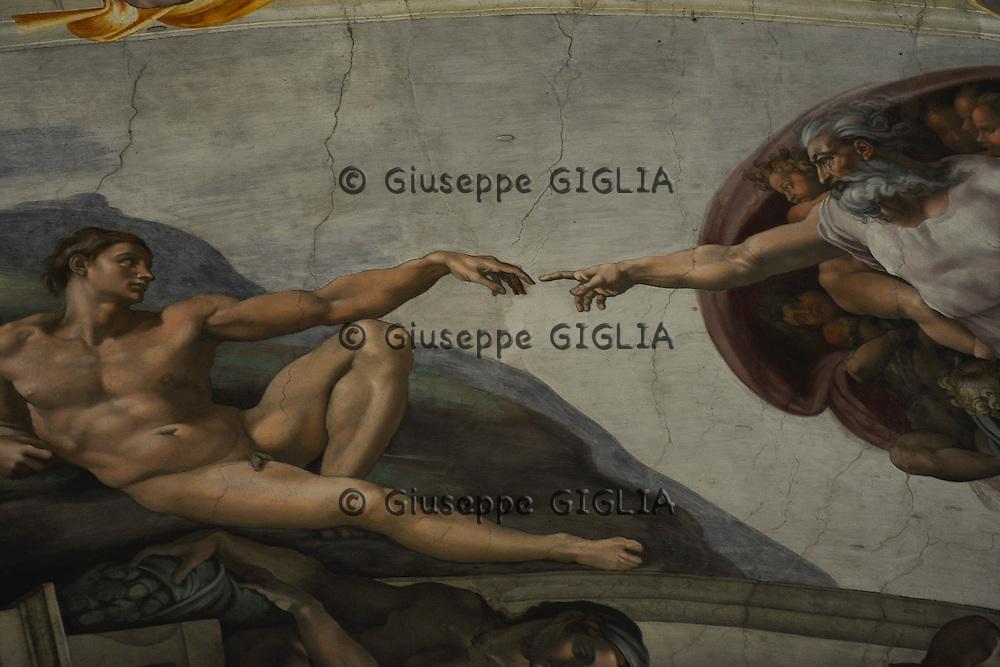 Cappella Sistina, work in progress for next conclave.