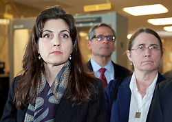 03 June  2015. New Orleans, Louisiana. <br /> L/R Rita Benson LeBlanc and her mother Renee LeBlanc leave Civil Distrcit Court where they attended day 3 of a hearing to determine the competency of grandfather/father Tom Benson. Benson is the billionaire owner of the NFL New Orleans Saints, the NBA New Orleans Pelicans, various auto dealerships, banks, property assets and a slew of business interests. Rita, her brother and mother demanded a competency hearing after Benson changed his succession plans and decided to leave the bulk of his estate to third wife Gayle, sparking a controversial fight over control of the Benson business empire.<br /> Photo©; Charlie Varley/varleypix.com