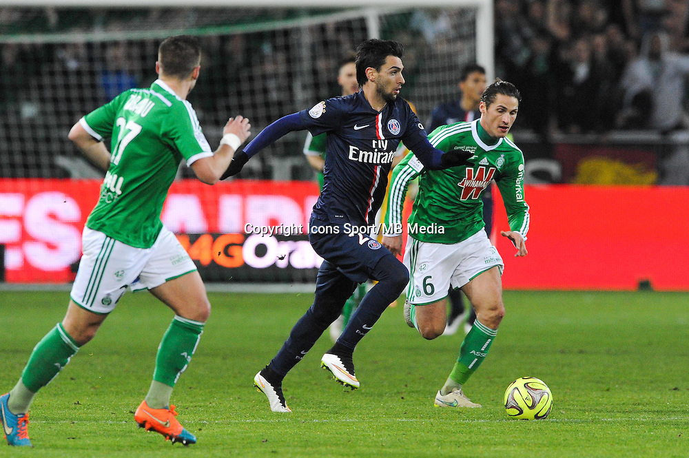 Javier PASTORE - 25.01.2015 - Saint Etienne / PSG - 22eme journee de Ligue1<br /> Photo : Jean Paul Thomas / Icon Sport