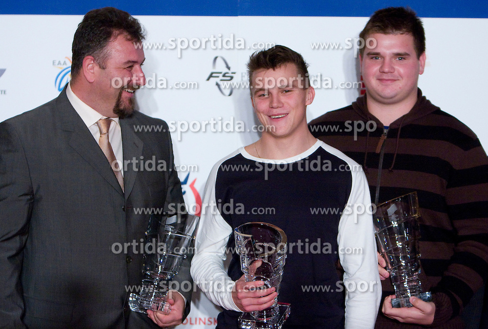 Vladimir Kevo, Erik Voncina and Tomaz Bogovic at Best Slovenian athlete of the year ceremony, on November 15, 2008 in Hotel Lev, Ljubljana, Slovenia. (Photo by Vid Ponikvar / Sportida)