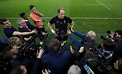 Wales captain Alun Wyn Jones during the press conference at The Principality Stadium, Cardiff. PRESS ASSOCIATION Photo. Picture date: Friday November 9, 2018. See PA story RUGBYU Wales. Photo credit should read: David Davies/PA Wire. RESTRICTIONS: Use subject to restrictions. Editorial use only. Strictly no commercial use. No use in books without prior written permission from WRU..