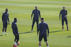 February 19, 2019 - Turin, Piedmont, Italy - Giorgio Chiellini (Juventus FC)  during the training on the eve of the first leg of eighth of final of UEFA Champions League match between Atletico Madrid and Juventus FC at Juventus Training Center on February 19, 2019 in Turin, Italy. (Credit Image: © Massimiliano Ferraro/NurPhoto via ZUMA Press)