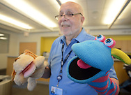 "Volunteer, and Penn Memory Center patient Leslie Wolff speaks about entertaining children with his puppets Tuesday, September 05, 2017 at CHOP Care Network in Philadelphia, Pennsylvania. The Penn Memory Center, which serves people with dementia mild cognitive disorder, has a new volunteer partnership with CHOP. Its patients and ""normal controls"" volunteer with CHOP patients. (WILLIAM THOMAS CAIN / For The Philadelphia Inquirer)"