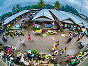 04 AUGUST 2017 - PAYANGAN, BALI, INDONESIA: Part of the local market in Payangan, about 45 minutes from Ubud. Bali's local markets are open on an every three day rotating schedule because venders travel from town to town. Before modern refrigeration and convenience stores became common place on Bali, markets were thriving community gatherings. Fewer people shop at markets now as more and more consumers go to convenience stores and more families have refrigerators.      PHOTO BY JACK KURTZ