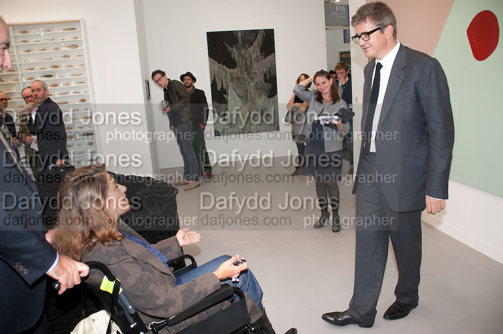 TRACEY EMIN; JAY JOPLING, - opening of the 2010 Frieze art fair. Regent's Park. London. 13 October 2010. -DO NOT ARCHIVE-© Copyright Photograph by Dafydd Jones. 248 Clapham Rd. London SW9 0PZ. Tel 0207 820 0771. www.dafjones.com.