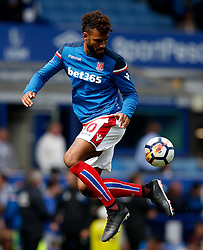 Eric Maxim Choupo-Moting of Stoke City warms up - Mandatory by-line: Matt McNulty/JMP - 12/08/2017 - FOOTBALL - Goodison Park - Liverpool, England - Everton v Stoke City - Premier League