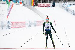Johannes Kuehn (GER) in action during the Pursuit Men 12,5 km at day 8 of IBU Biathlon World Cup 2018/19 Pokljuka, on December 9, 2018 in Rudno polje, Pokljuka, Pokljuka, Slovenia. Photo by Urban Urbanc / Sportida