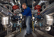 Photographed for Performance Fibers Annual Report and Promotional Campaign:<br /> <br /> Performance Fiber employees work in the Utilities Department at the Performance Fibers plant in Longlaville, France.