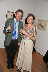ERSKINE GUINNESS and ISABELLA NAYLOR-LEYLAND at a private view of work by the late Rory McEwen - The Colours of Reality, held at the Shirley Sherwood Gallery, Kew Gardens, London on 20th May 2013.