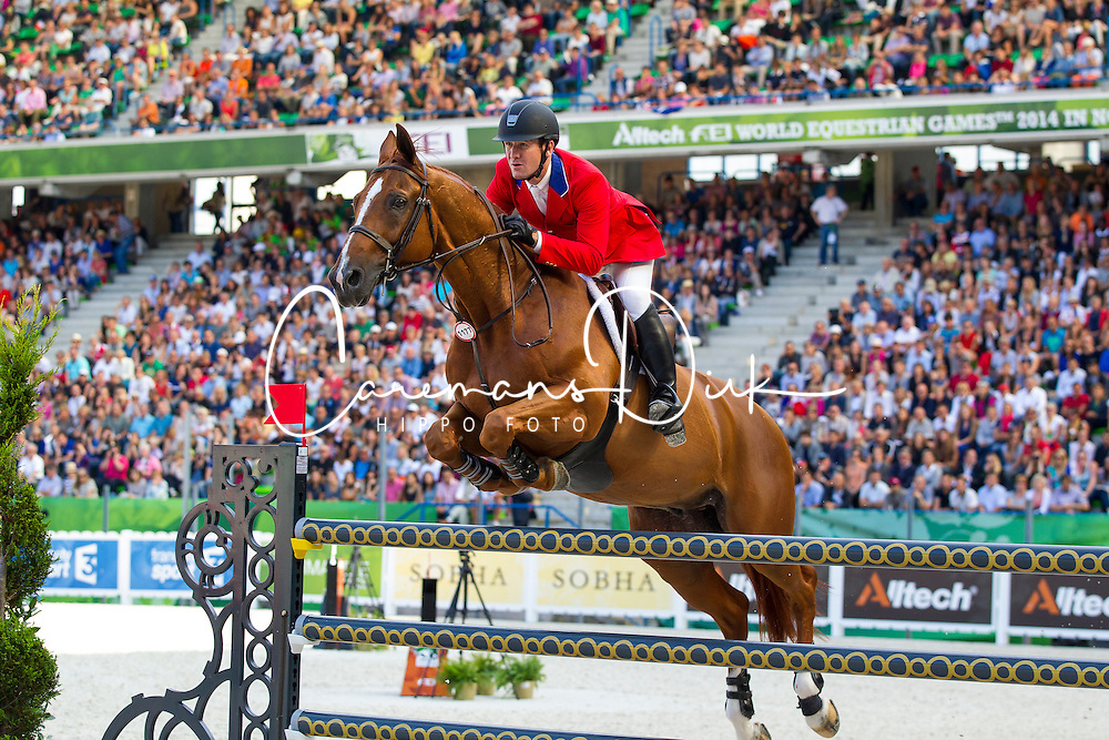 Mclain Ward, (USA), Rothchild - World Champions, - Second Round Team Competition - Alltech FEI World Equestrian Games&trade; 2014 - Normandy, France.<br /> &copy; Hippo Foto Team - Leanjo De Koster<br /> 25/06/14
