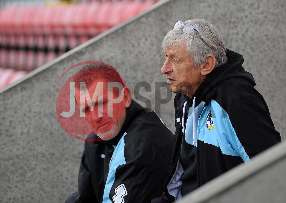 Keith and Stuart - Mandatory byline: Neil Brookman/JMP - 07966 386802 - 03/10/2015 - FOOTBALL - Globe Arena - Morecambe, England - Morecambe FC v Bristol Rovers - Sky Bet League Two