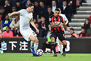 Nemanja Matic (31) of Manchester United intercepts a pass from Callum Wilson (13) of AFC Bournemouth during the Premier League match between Bournemouth and Manchester United at the Vitality Stadium, Bournemouth, England on 18 April 2018. Picture by Graham Hunt.